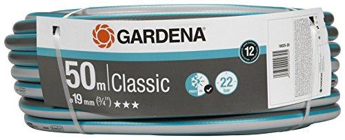 """GARDENA Classic Schlauch 19 mm (3/4""""), 50 m: Universeller Gartenschlauch aus robustem Kreuzgewebe, 22 bar Berstdruck, UV-beständig, ohne Systemteile, verpackt (18025-20)"""