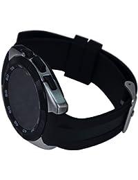 Bluetooth Waterproof Smart Watch, 1.2 pouces Round Screen Pulsera Inteligente con Sensor de Ritmo Cardíaco/ Pantalla Táctil/ Cámara Remota/ Monitor de Sueño/ Contador De Pasos/Reloj Para IOS 7.0, Android 4.3+ System (Gris)