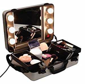 Beauty Box With Hollywood Style Mirror Light Bulbs