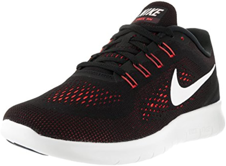 Nike Free RN Running Shoe Black / Off White / Total Crimson Size 12 M US