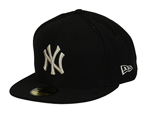 NEW YORK YANKEES - NEW ERA BASECAP - METAL GAMER - BLACK / SILVER