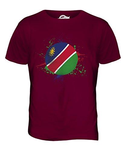 CandyMix Namibia Fußball Herren T Shirt Burgunderrot