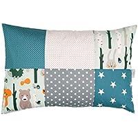 Funda de almohada ULLENBOOM de 40 x 60 cm (fabricado en la UE) – Funda de almohada de algodón con cremallera, funda también adecuada para cojín decorativo, diseño: estrellas, diseño de patchwork