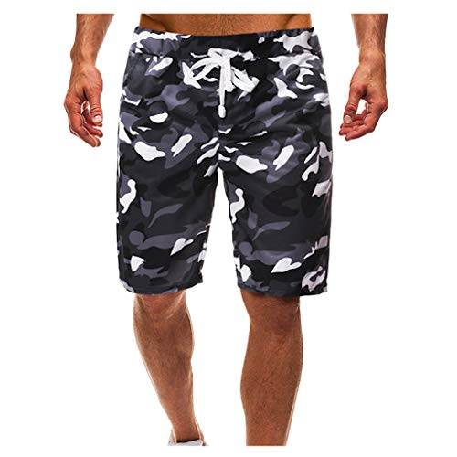 MEIbax Herren Cargo Hose Jogging Pants Sommer Neue Shorts Mens Camouflage gedruckt Tether Casual Five Points Sport Short Baggy Hose