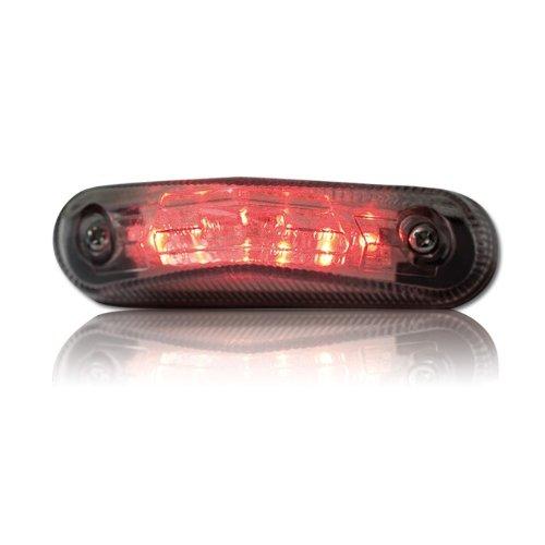 feu arri/ère LED Verre Transparent 83/x 22/mm de Marque de contr/ôle /électronique avec /éclairage de Plaque min/éralogique Universel