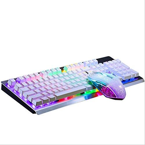 Mechanische Tastatur Spiel Hintergrundbeleuchtung Grüne Achse 104 Key Mechanische Tastatur Ausrüstung Notebook Desktop Computer Spiel Ausrüstung Büro Haushalt ( Farbe : Weiß )