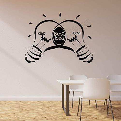 o Ideen Glühbirnen Business Inspirational Wandaufkleber Zitate Beste Idee Logo Abnehmbare Kunst Innen Aufkleber 57 * 43 cm ()