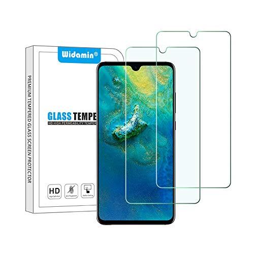Widamin 2Pack, Panzerglas Kompatibel mit Huawei Mate 20, Displayschutzfolie, Hohe Auflösung Glas, [9H Härte], [Crystal Clearity], [Kratzfest], [No-Bubble], Nicht für Huawei Mate 20 Pro