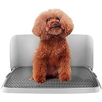 Bandeja del retrete del perro, entrenamiento insignificante plástico del perrito interior del perro con la cerca y la pequeña utilización del animal doméstico de los 48 * 36 * 21cm ( Tamaño : L )