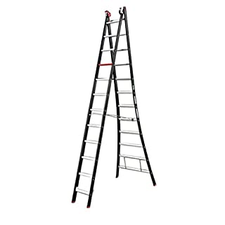 Altrex 0000418Combination Aluminium Ladder, Manual, Number of Steps: 2x 10