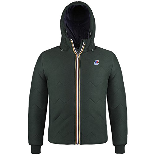 K-Way Tanai Padded, Cappotto Uomo, Verde (Green Wood Antracite), Large (Taglia Produttore:L)