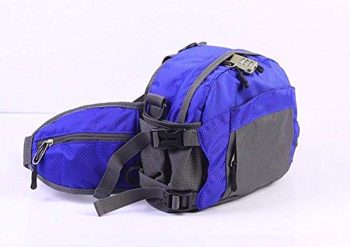 &ZHOU uomini e donne di sport zaino borsa borsa a tracolla grande capacità del messaggero dello zaino moda borsa Messenger borsa multifunzionale , rose red deep blue