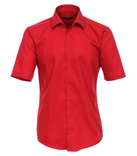 Michaelax-Fashion-Trade -  Camicia classiche  - Basic - Classico  - Maniche corte  - Uomo Rot (405)