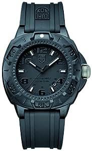 Luminox Herren-Armbanduhr XL Analog Quarz Silikon 09LX0201BO
