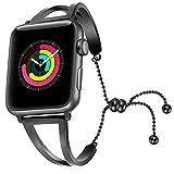 VELLAA para Apple Watch Correa para Relojes,Acero Inoxidable Pulseras de Repuesto Reemplazo Correo de Sport Banda para 38mm 42mm iWatch Serie 2/ Serie 1