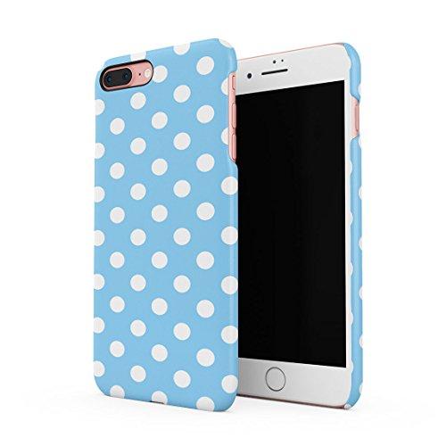 Baby Blue Polka Dots Pattern Dünne Rückschale aus Hartplastik für iPhone 7 Plus & iPhone 8 Plus Handy Hülle Schutzhülle Slim Fit Case Cover Dots Cover Case Snap
