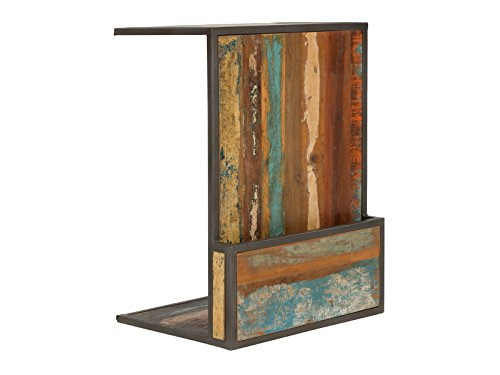 Massivum Grafton Beistelltisch Recyceltes Holz bunt One Size