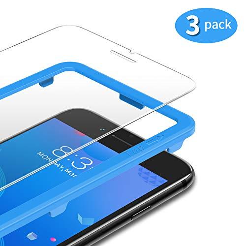 TAMOWA [3 Stück] für Panzerglas Kompatibel für iPhone 8 Plus/ iPhone 7 Plus/ 6s Plus/ 6 Plus (5,5 Zoll), Panzerglasfolie 9H Härte für Panzerglas Schutzfolie mit Positionierhilfe, Anti-Kratzen, Anti-Öl