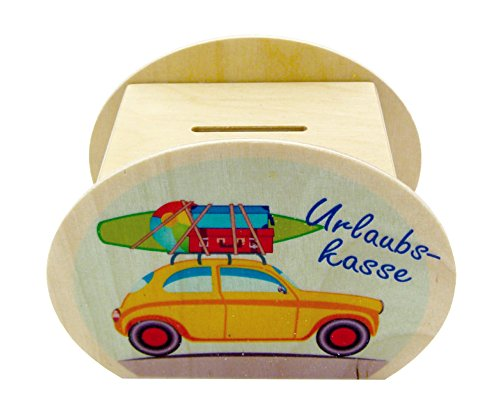 Hess 14551–Hucha de madera, vacaciones–Caja registradora, aprox. 12cm