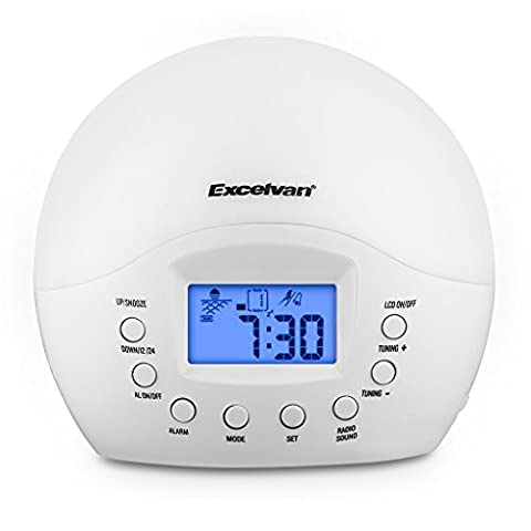 Excelvan LED Lichtwecker mit FM Radio natürlichen Wecktöne Wake-up Light