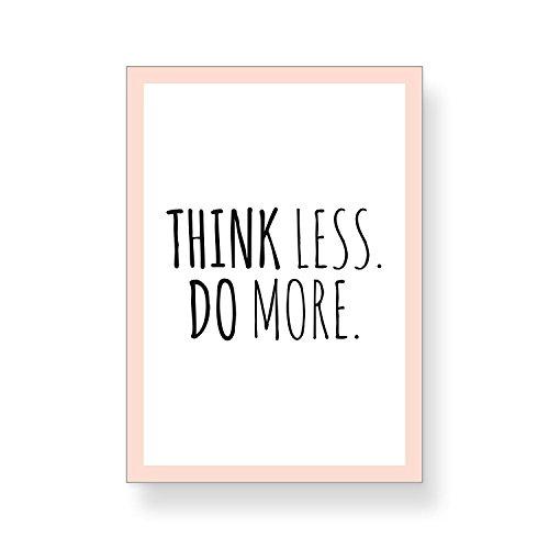 CUPCAKES & KISSES® 4er Motivation Poster Sparset I motivierende Zitate & Sprüche I Hochformat I DIN A4 I Quote I in schwarz und weiß mit buntem Rahmen - 3