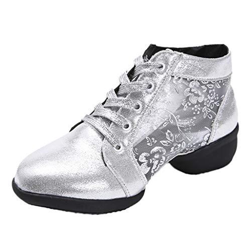 LIMITA Damen tanzen Rumba Schuhe Walzer Prom Ballsaal Schuhe Latin Salsa Tanzschuhe Damen Basic Geschlossene Ballerinas Damen Mary Jane Halbschuhe