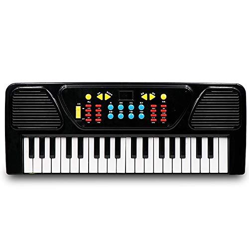 Festnight Pianoforte Elettrico, 37 Keys Tastiera Digitale Strumento Musicale per Bambini Giocattolo Regalo, Nero