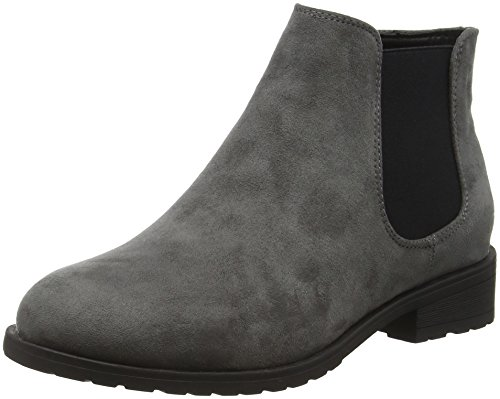 New Look Damen Wide Foot Danielle Kurzschaft Stiefel Grey (grey/04)