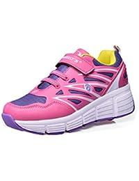 Tamaño 12-8,5niños adultos rueda Roller zapatos niños niña único ruedas Fashion Skate Zapatillas