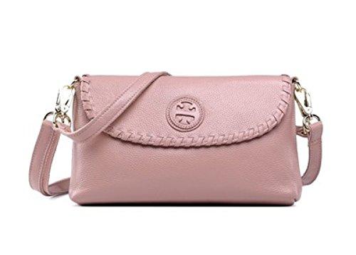Donna Pelle Singola Spalla Crossbody Bag Busta Frizione Borsa LightPurple
