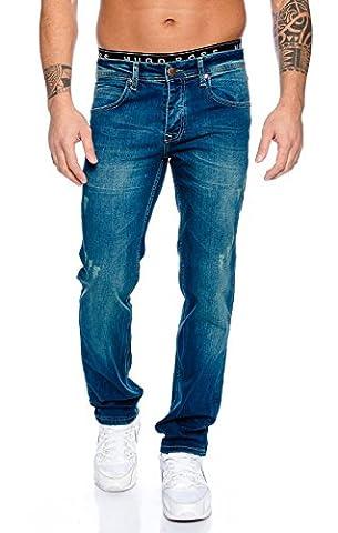 Rock Creek Herren Jeans Hose Blau RC-2100 [W32