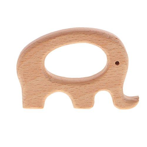 Gazechimp 1 Stk. Babypflege Schmuck Elefant form Beißring aus Holz für Kleinkind - Kinderspielzeug
