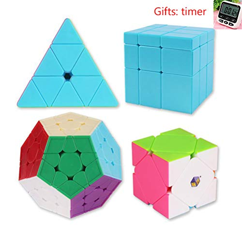 PPu Speed Cube Alien, glatt und einzigartig ABS Pyramide Spiegel Dreieck fünf Gesicht Zauberwürfel für das Training festgelegt