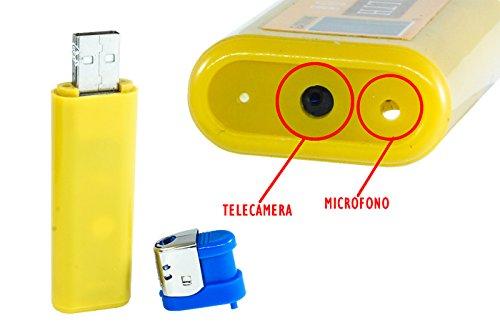 Mini Cam Feuerzeug Microspia Nascost USB Spy Spia Audio Foto Video