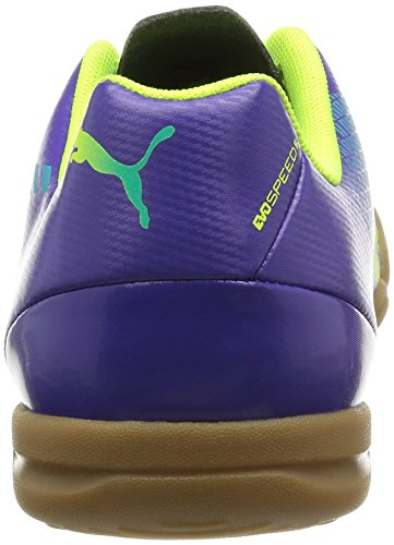 Puma Evospeed 5.3 It Jr, Chaussures de sports en salle mixte enfant Violet (Prism Violet-Fluro Yellow-Scuba Blue 01)