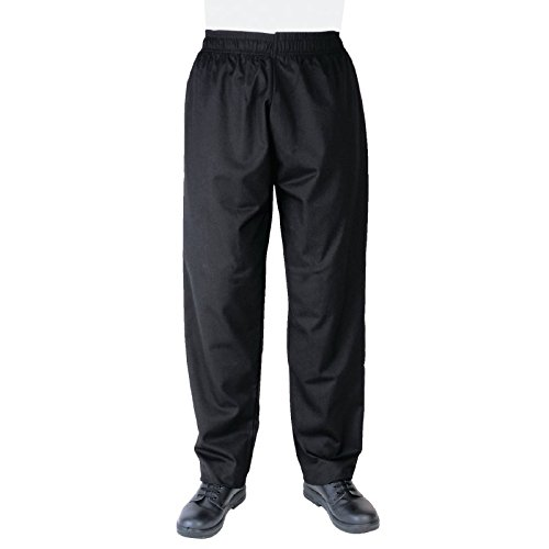 nextday-catering-a582-m-vegas-black-chefs-trousers-size-m