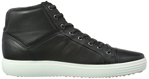Ecco Soft 7, Baskets Basses Homme Noir (BLACK01001)