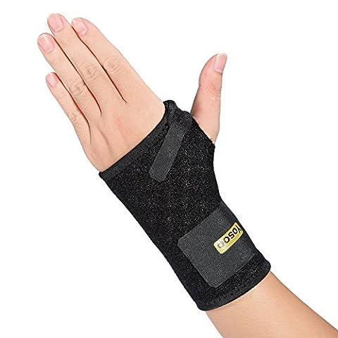 Wrist Support,Yosoo Carpal Tunnel Splint Breathable Neoprene Black Wrist Brace