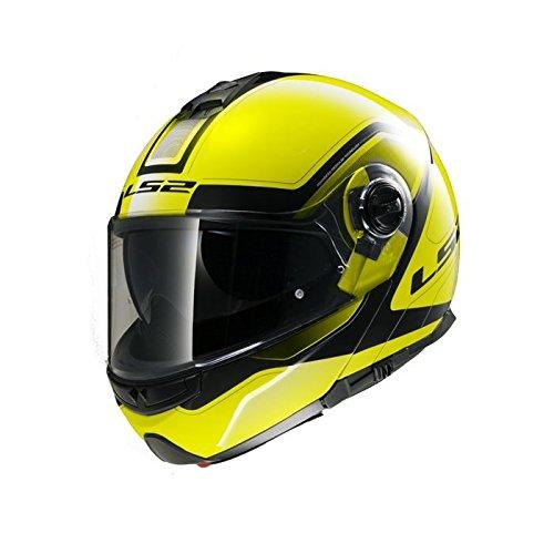 LS2 503252054M FF325 Casco Strobe Civik, Color Hi/Vis Amarillo/Negro,