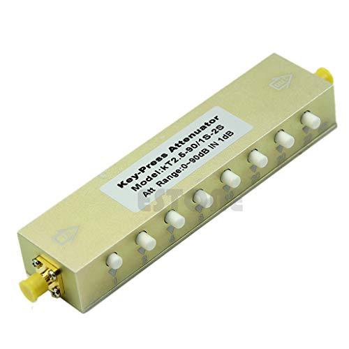 zijianZJJ Verstellbarer Druckdämpfer, 5 W, DC-2,5 GHz, 0-90 dB, SMA, 8 Tasten, 1 dB