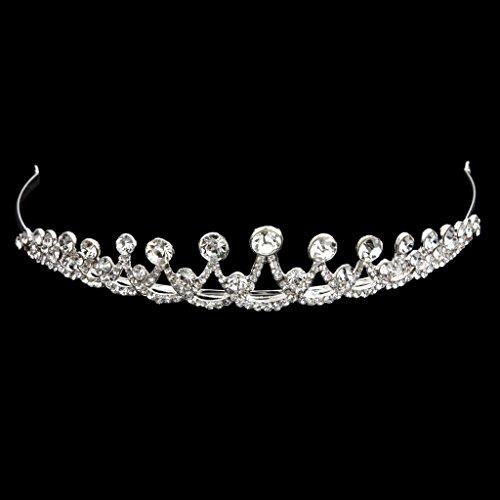 Tiara Corona Diadema Tocado Diamantes de Imitación Decoración Nupcial Boda