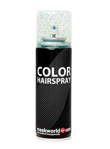 lor Hairspray - farbiges Glitter Haarspray bunt Glitterspray (Grün) (Grüne Halloween-haarspray)