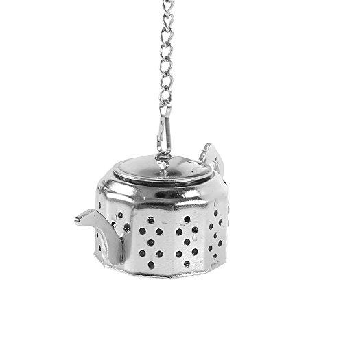 Infuseurs à thé mignon pour courroie Tasses à thé Mugs, réutilisable en acier inoxydable Passoire à thé avec plateau et chaînes