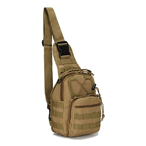 LF&F backpack Militärfans Tarnung kleine Brusttasche Reitschultertasche taktische Brusttasche Outdoor Bergsteigen tragbare Tasche Campingrucksack Wanderrucksack Männer und Frauen I