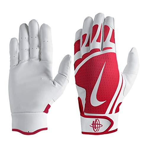 Nike Huarache Edge Baseball Handschuhe, Batting Gloves - rot/weiß Gr. M