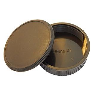 vhbw Objektiv Deckel Set für Kamera Leica mit M39-System wie Tanaka Steinheil Som Berthiot Olympus Minolta Konica Meyer Accura Chiyoko Dallmeyer Elma