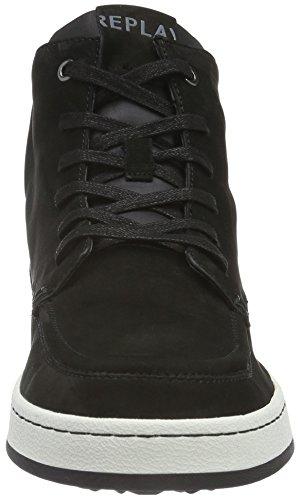 Replay Colony, Baskets Basses Homme Noir - Schwarz (Black 3)