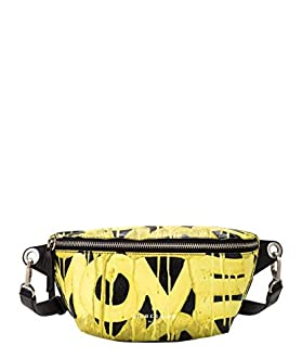 Liebeskind Berlin Basic SLG Graffiti Animation-Beltbag, Sac à l'épaule Femme, Multicolore (Black/Golden Olive), 7x31.5x14 Centimeters (B x H x T)