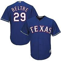 YQSB Camiseta Deportiva Baseball Jersey Liga de béisbol Texas Rangers # 29 Beltré béisbol Bordado,Blue,Men-M