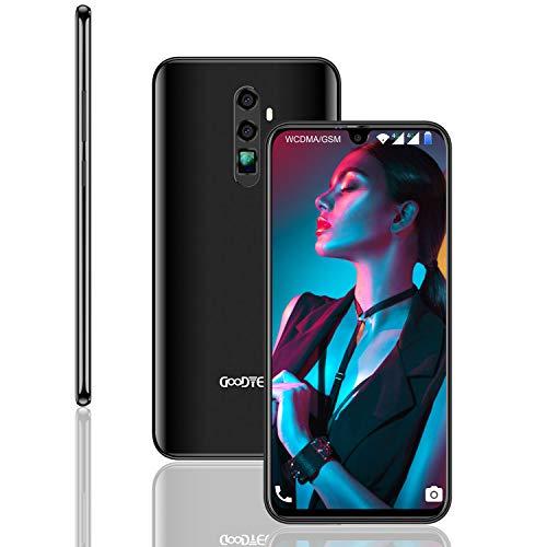 GOODTEL C50 Smartphone Android 8.1 Batteria 4180mAh 4G Phablet con 3 slot,schermo da 6,3 pollice cellulari offerte 2GB RAM + 32GB,13MP + 8MP Camera Face ID sbloccati-nero